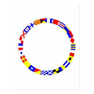 Signal Flags Ring Post Card