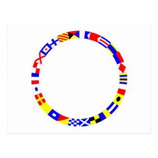 Signal Flags Ring Postcard