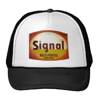Signal Grease vintage sign weathered Trucker Hat