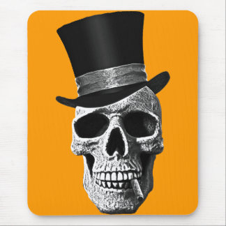 Signal hat skull mouse pad
