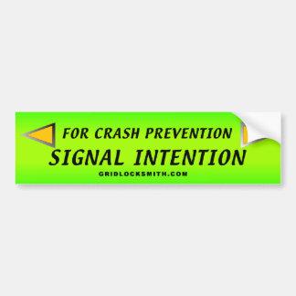 Signal.Intention Pegatina De Parachoque