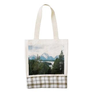 Signal Mountain View Grand Tetons Zazzle HEART Tote Bag