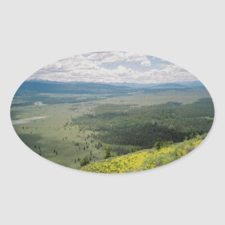 Signal Mountain View Oval Sticker