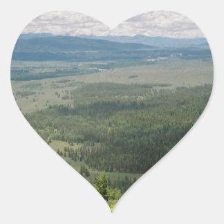 Signal Mountain View Heart Sticker
