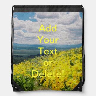 Signal Mountain Wildflowers Drawstring Bag