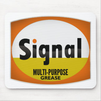 Signal Multi-Purpose Grease vintage sign crystal Mouse Pad