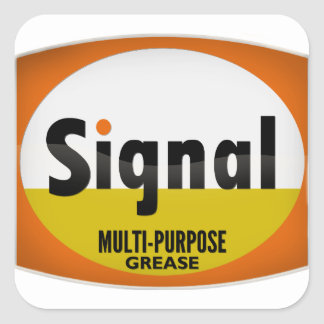 Signal Multi-Purpose Grease vintage sign crystal Square Sticker