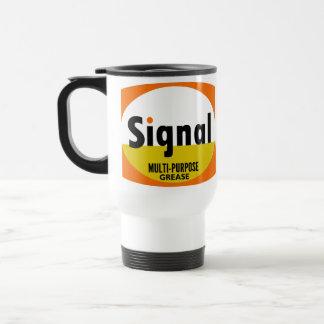 Signal Multi-purpose Grease vintage sign flat 15 Oz Stainless Steel Travel Mug