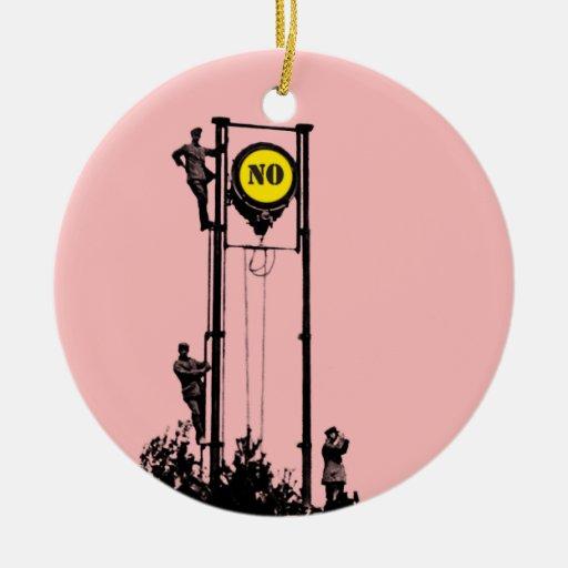 Signal No Pink ornament