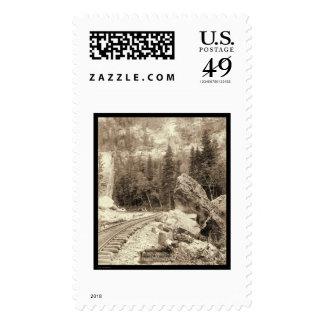 Signal Rock Elk Canyon Black Hills SD 1890 Postage Stamp