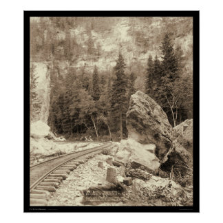 Signal Rock Elk Canyon Black Hills SD 1890 Poster