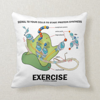 Signal To Start Protein Synthesis Exercise Throw Pillow