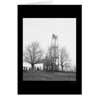 Signal Tower Headquarters at Petersburg, VA 1864 Card