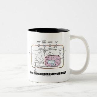 Signal Transduction Pathways Inside (Cell Biology) Two-Tone Coffee Mug