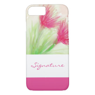 SIGNATURE ART   watercolor flowers painting iPhone 7 Case