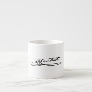 Signature Autograph of Davy Crockett Espresso Cup