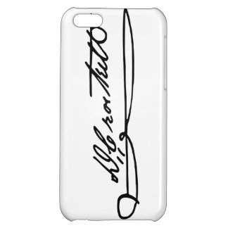 Signature Autograph of Davy Crockett Case For iPhone 5C