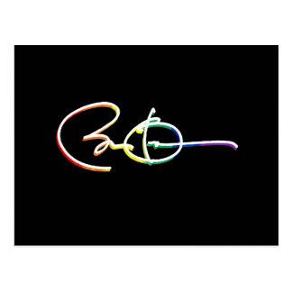 Signature Barack Obama Pride Rainbow -- LGBT Polit Postcard
