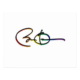 Signature Barack Obama Pride Rainbow - LGBT Politi Postcard