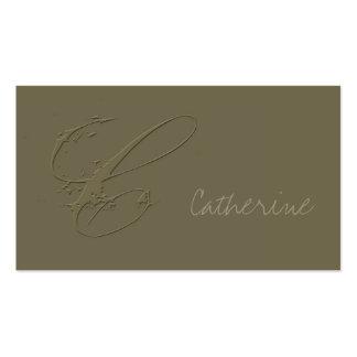 Signature C Business Card Templates
