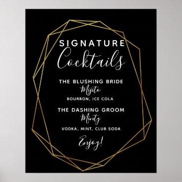 Art Themed Signature Cocktail bar sign geometric wedding