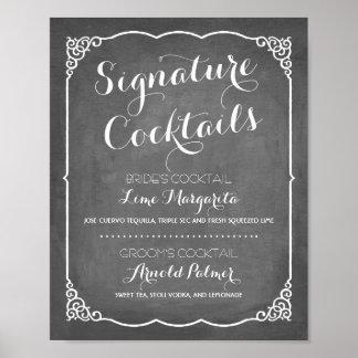Signature Cocktails Menu | Wedding Decor