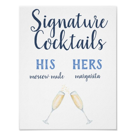 Signature Cocktails Poster