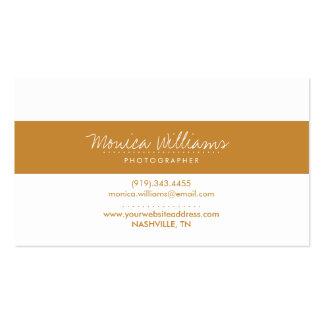 Signature Cursive Stripe Business Card