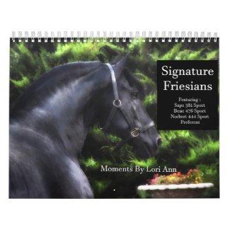 Signature Friesian Stallions Calendar