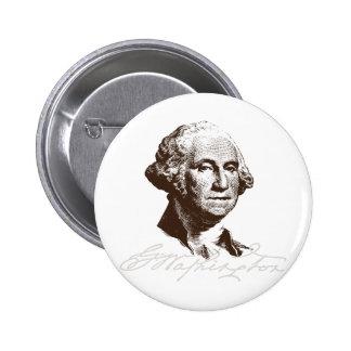 Signature George Washington 2 Inch Round Button