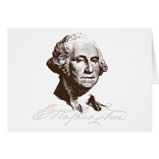Signature George Washington Card