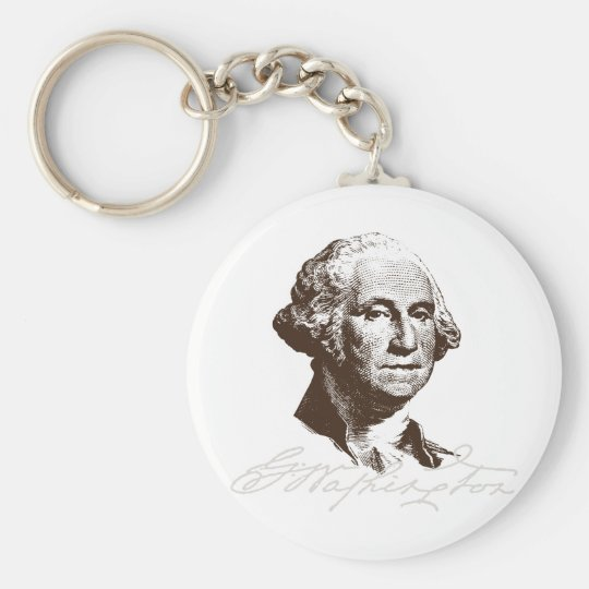 Signature George Washington Keychain