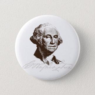 Signature George Washington Pinback Button