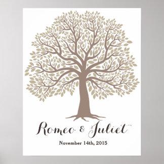 Signature guest book - Big Oak Tree - Wedding