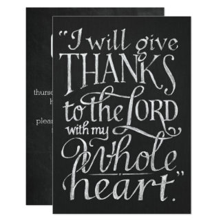 Signature Matte Invitations (Thanksgiving)