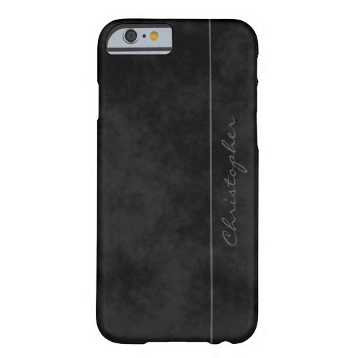 Signature Mottled Black Barely There iPhone 6 Case