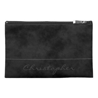* Signature Mottled Black Contemporary Travel Accessories Bags
