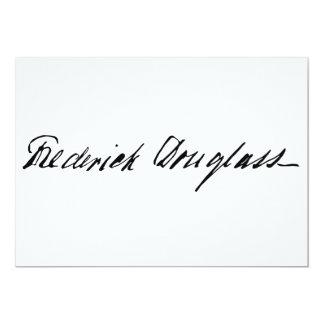Signature of Abolitionist Frederick Douglass Card