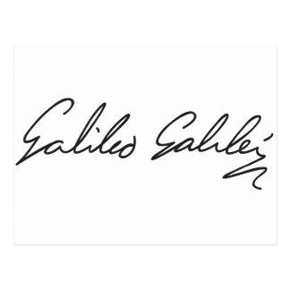 Signature of Astronomer Galileo Galilei Postcard