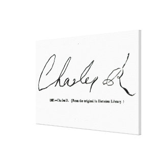 Signature of Charles II Stretched Canvas Prints