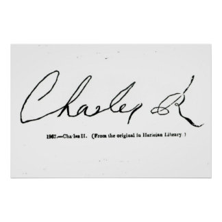 Signature of Charles II Poster