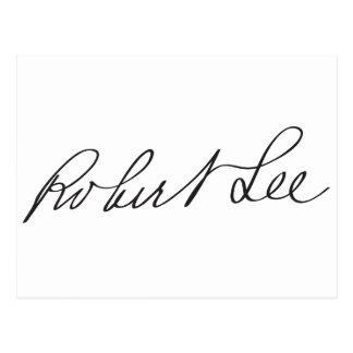 Signature of Confederate General Robert E. Lee Postcard
