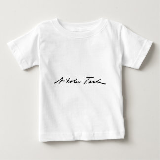 Signature of Electricity Genius Nikola Tesla Baby T-Shirt