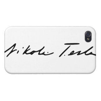 Signature of Electricity Genius Nikola Tesla iPhone 4/4S Case