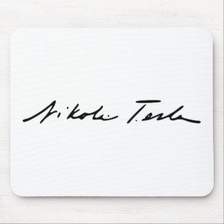 Signature of Electricity Genius Nikola Tesla Mouse Pad