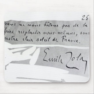 Signature of Emile Zola Mouse Pad