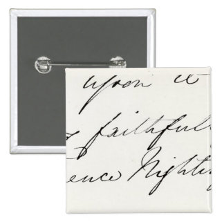 Signature of Florence Nightingale 2 Inch Square Button