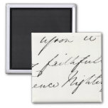 Signature of Florence Nightingale 2 Inch Square Magnet