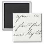 Signature of Florence Nightingale Fridge Magnet
