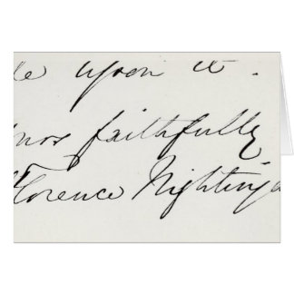 Signature of Florence Nightingale Greeting Card